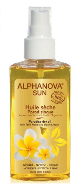 alphanova huile s che paradisiaque mono et argan 125ml boutique bio. Black Bedroom Furniture Sets. Home Design Ideas