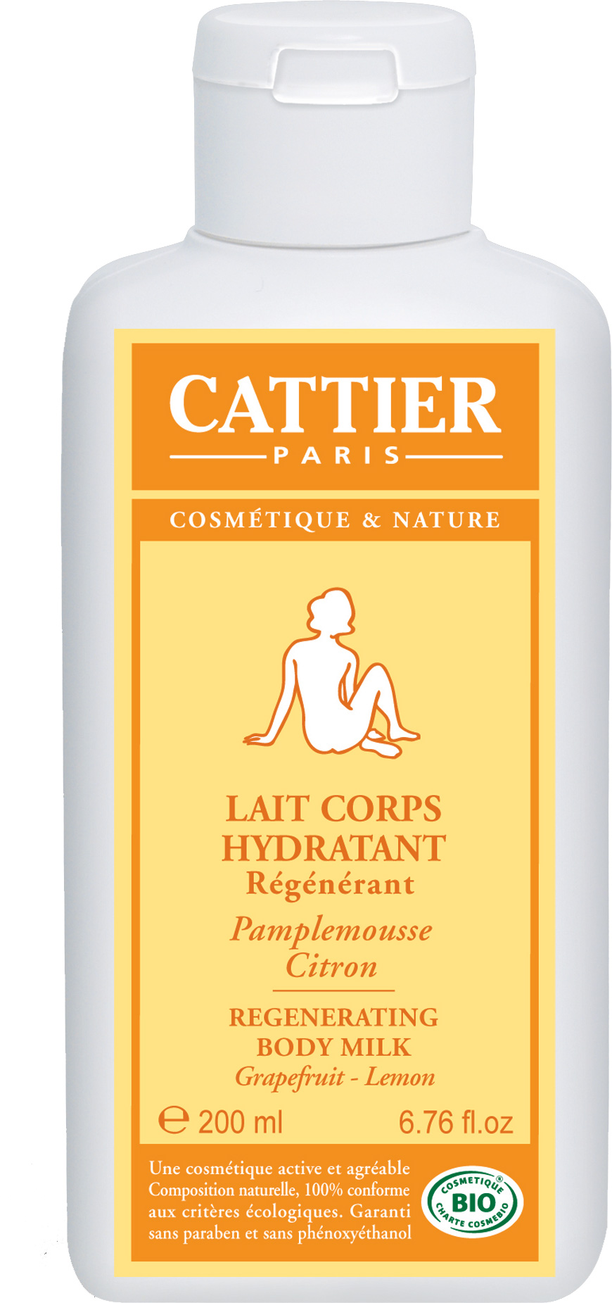 cattier lait corps hydratant r g n rant 200 ml boutique bio. Black Bedroom Furniture Sets. Home Design Ideas