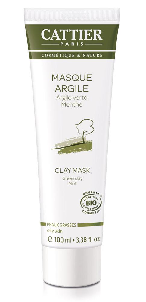 cattier masque l 39 argile verte menthe peaux grasses 100 boutique bio. Black Bedroom Furniture Sets. Home Design Ideas