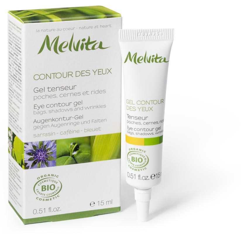 melvita gel cr me contour des yeux bio tenseur anti poches anti cernes 15ml boutique bio. Black Bedroom Furniture Sets. Home Design Ideas