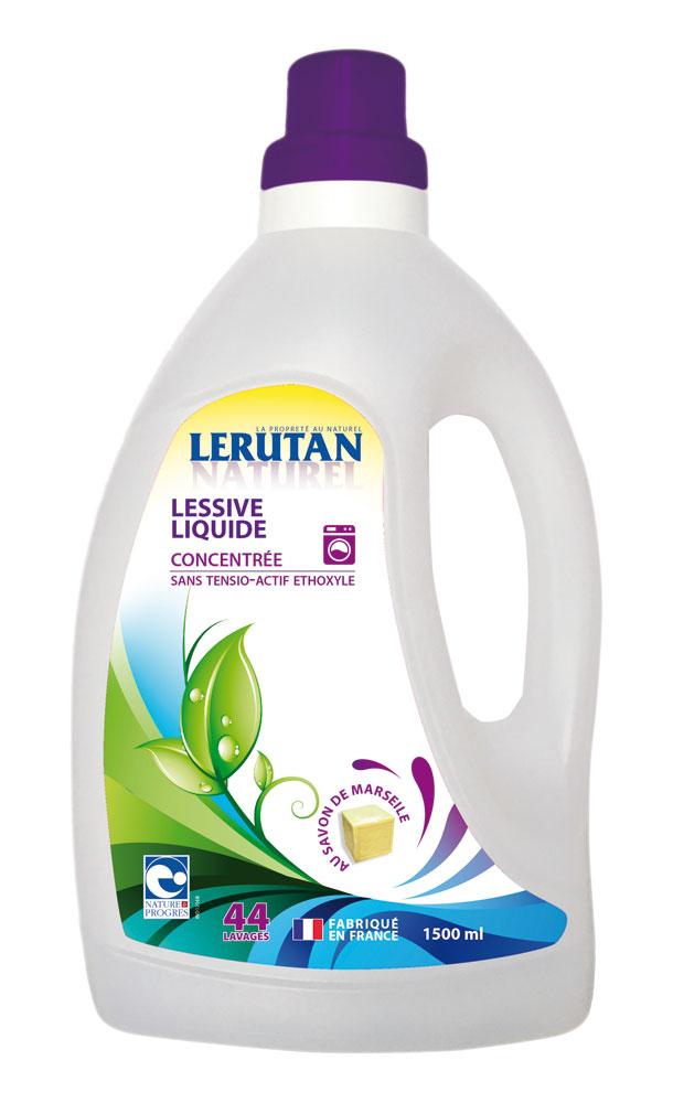 gravier lessive liquide lerutan concentr e au savon de marseille 1 5 l boutique bio. Black Bedroom Furniture Sets. Home Design Ideas