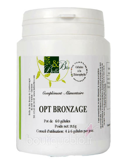belle et bio opti bronzage 60 g lules boutique bio. Black Bedroom Furniture Sets. Home Design Ideas