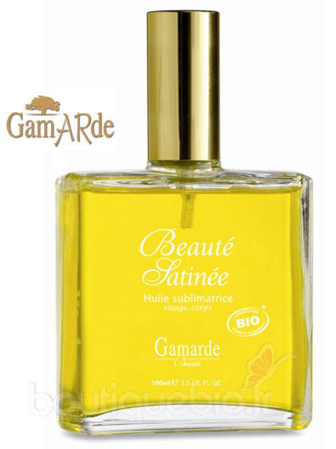 huile sublimatrice beauté satinée