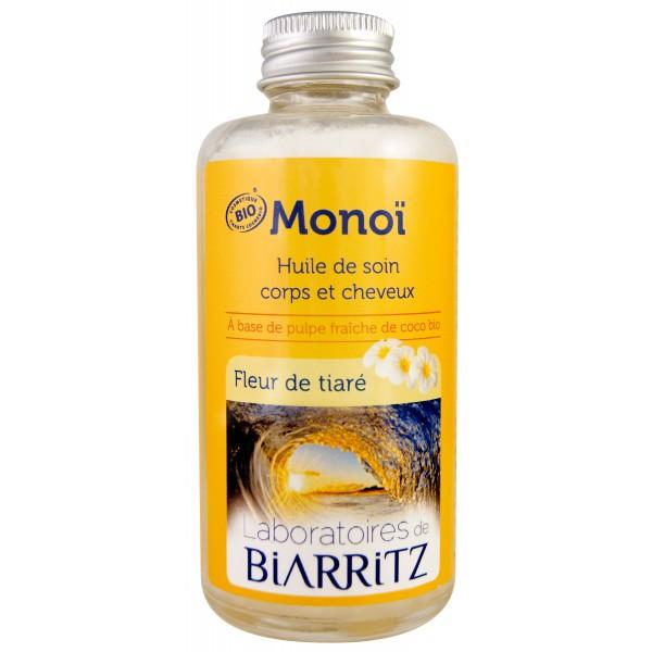 laboratoires de biarritz monoi huile de soin corps et cheveux fleur de tiar 100 ml. Black Bedroom Furniture Sets. Home Design Ideas