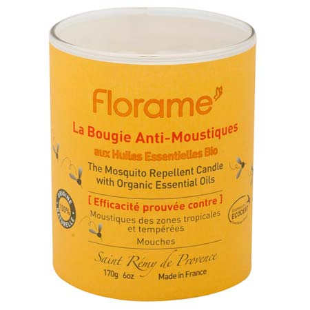 florame bougie anti moustiques 100 origine naturelle 170g boutique bio. Black Bedroom Furniture Sets. Home Design Ideas