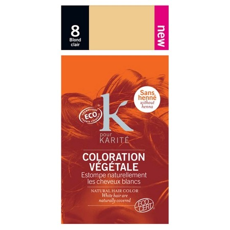 coloration vgtale bio blond clair n8 - Coloration Bio Pharmacie