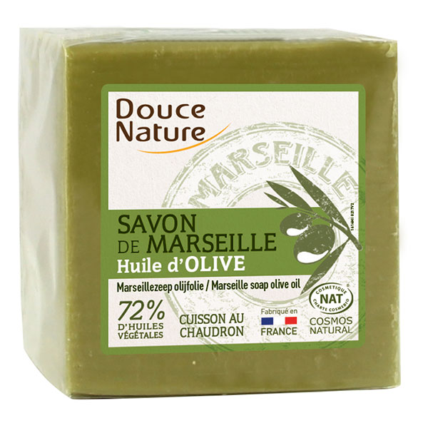 douce nature savon de marseille pur v g tal olive pain de 300 g boutique bio. Black Bedroom Furniture Sets. Home Design Ideas