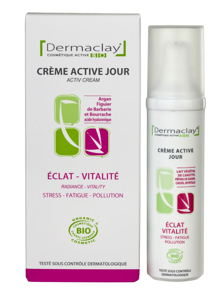 eumadis cr me active jour eclat vitalite dermaclay flacon 50 ml boutique bio. Black Bedroom Furniture Sets. Home Design Ideas