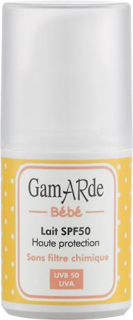GamARde - Lait solaire SPF50 bébé Hypoallergénique 40 ml - Boutique bio 79a65698b797