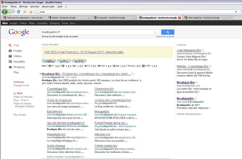 modification lien de site google