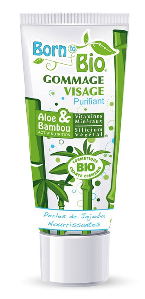 born to bio gommage visage purifiant aux perles de jojoba 75ml boutique bio. Black Bedroom Furniture Sets. Home Design Ideas