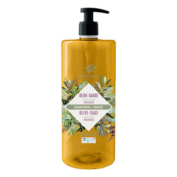 5aa37d3bb7d Gravier - Shampooing douche olive sauge 1 litre - Boutique bio