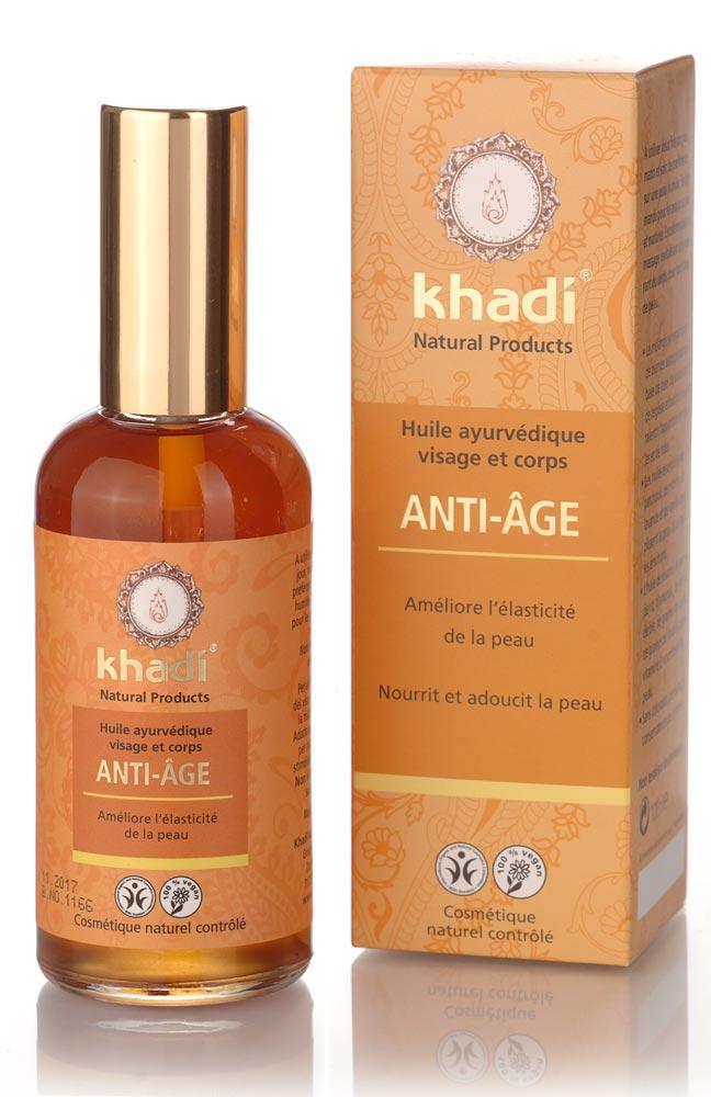 khadi huile anti age visage et corps tous types de peaux 100 ml boutique bio. Black Bedroom Furniture Sets. Home Design Ideas