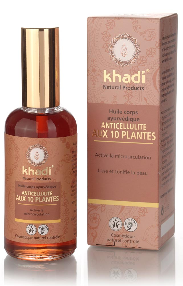 khadi huile ayurv dique anti cellulite aux 10 herbes 100 ml boutique bio. Black Bedroom Furniture Sets. Home Design Ideas
