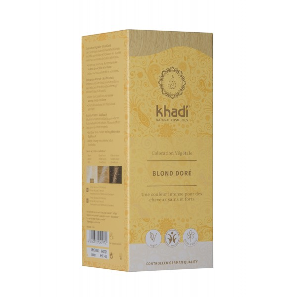 coloration khadi blond doré