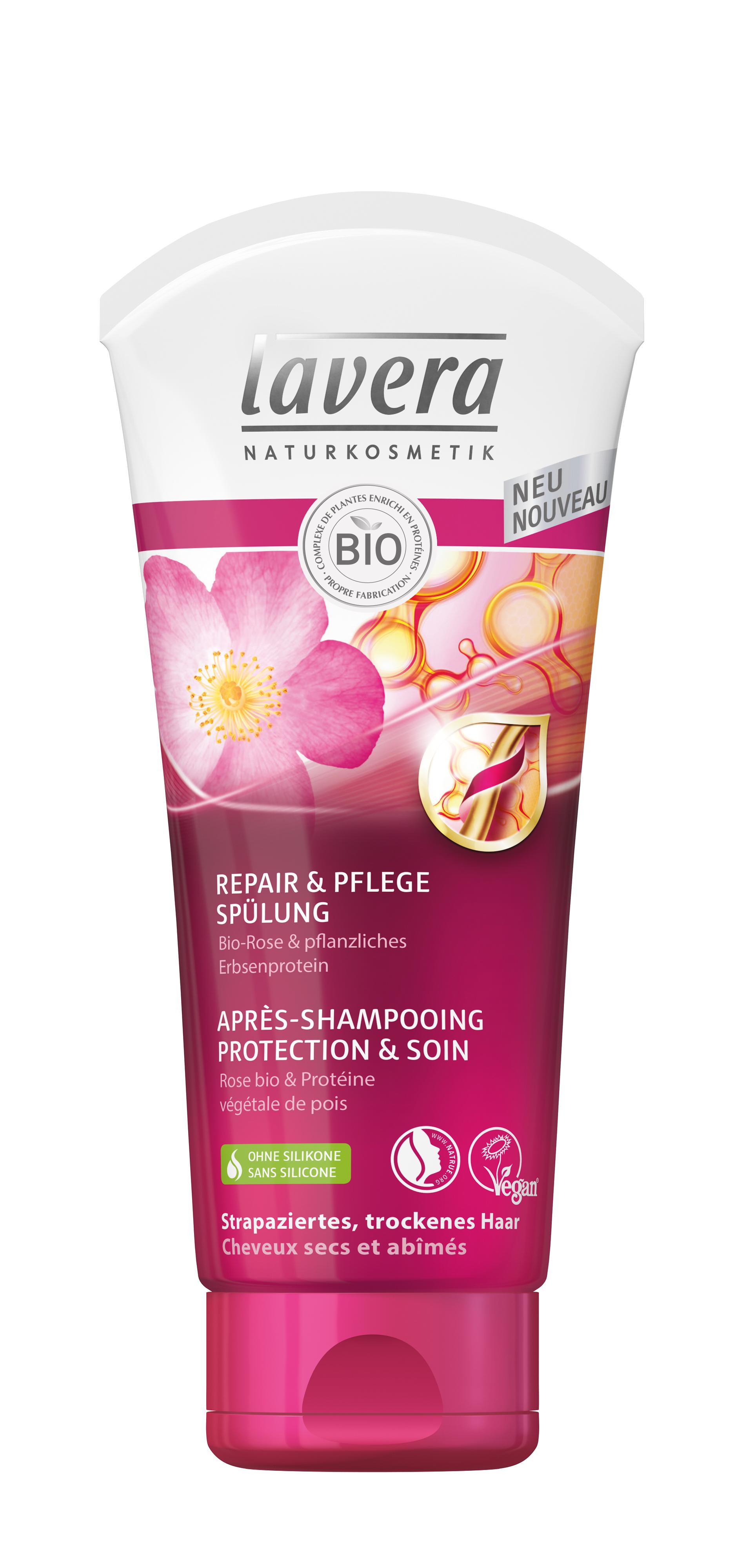 lavera apr s shampoing hair protection et soin pour cheveux secs 200 ml boutique bio. Black Bedroom Furniture Sets. Home Design Ideas