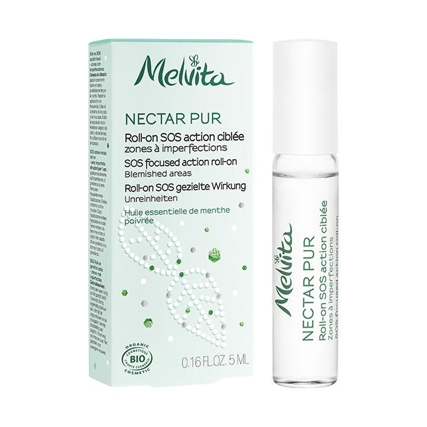 melvita - roll-on sos purifiant action ciblée nectar pur 5 ml