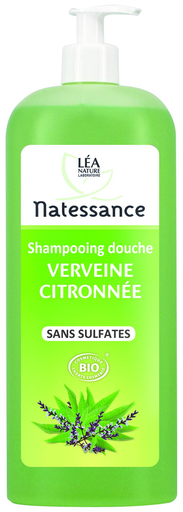 natessance shampoing douche verveine citronn e 1 litre boutique bio. Black Bedroom Furniture Sets. Home Design Ideas