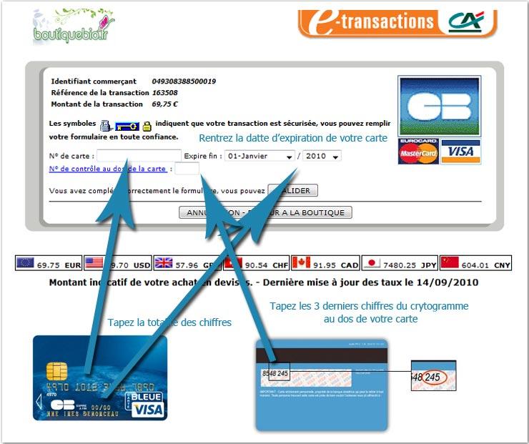 Aide au paiement par cb boutique bio - Paiement dans 3 mois cb ...