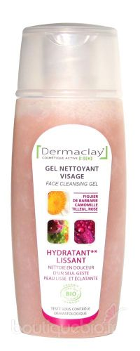Gel Nettoyant Visage -Hydratant & Lissant Dermaclay 100ml