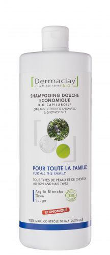 Shampoing gel douche Provence 1 L Dermaclay
