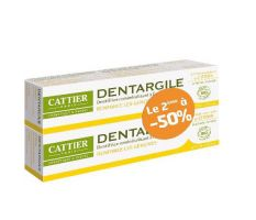 Pack de 2 Dentifrice Citron Gencives Irritées Dentargile 75 g