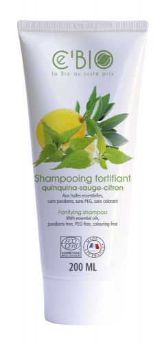 SHAMPOOING FORTIFIANT quinquina - sauge - citron 200 ml CE\'BIO