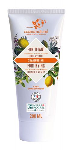 Shampooing Fortifiant Quinquina Sauge Citron Cosmo Naturel 200 ml