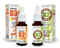 Duo pack vitamine D3 + K2