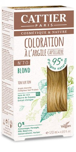 Coloration à l\'argile Ton sur Ton Blond 7.0