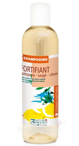 Shampooing Fortifiant Quinquina Sauge Citron Cosmo Naturel 250ml