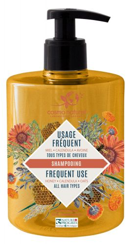 Shampooing Usages Fréquents Miel, Calendula Cosmo Naturel 500ml