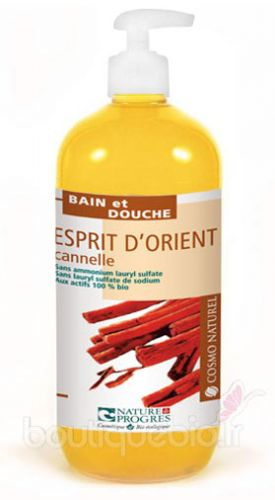 Gel Moussant Esprit d\'Orient Cannelle Orange CosmoNaturel 500ml
