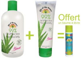 Pack aloé Lily of the Desert + baume à lèvres offert