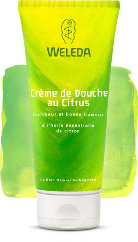 weleda cr me de douche au citrus aux huiles essentielles de citron 200ml boutique bio. Black Bedroom Furniture Sets. Home Design Ideas