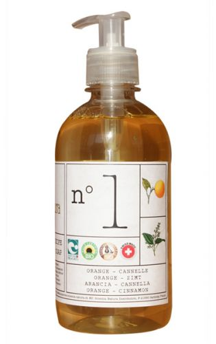 Savon liquide artisanal N°1 Orange Cannelle 1L