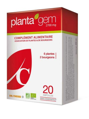 Planta\'gem\'C -  2700mg - 20 ampoules de 10ml