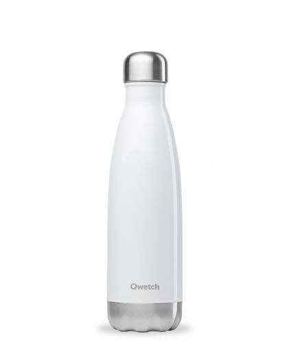 Bouteille isotherme blanc brillant 500 ml