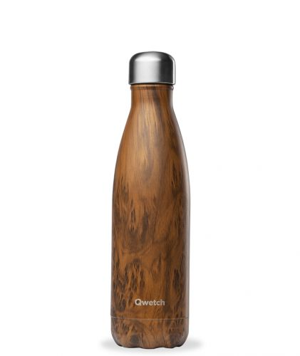 Bouteille isotherme Wood brun 500 ml
