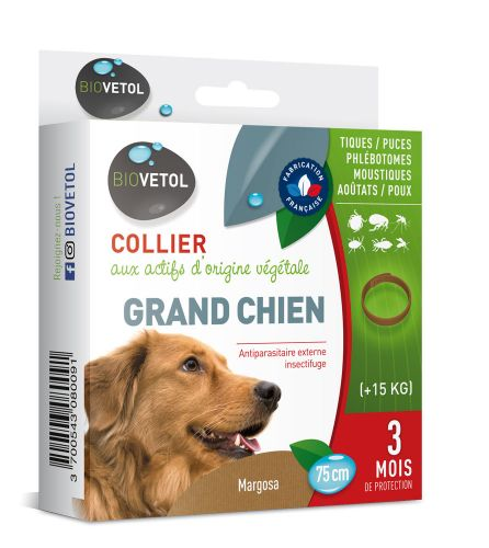 Collier anti-parasitaire Grand chien