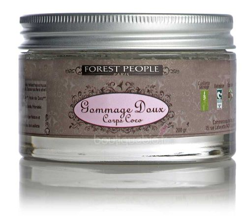Forest people gommage doux corps coco 200ml boutique bio - Gommage corps efficace ...
