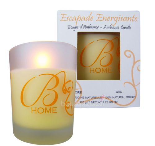 Bougie d\'ambiance  escapade Energisante - agrumes 120g