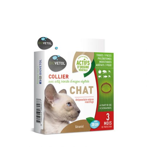 Collier anti-parasitaire Chat