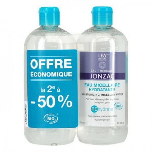 Lot de 2 Eaux Micellaires hydratantes 500 ml