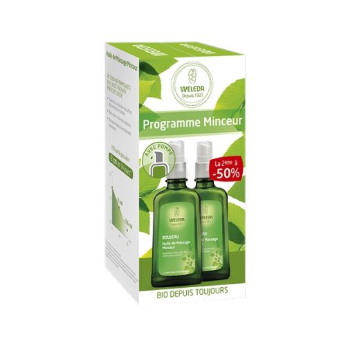 Duo HUILE DE MASSAGE MINCEUR Réduction de Cellulite 2x100 ml
