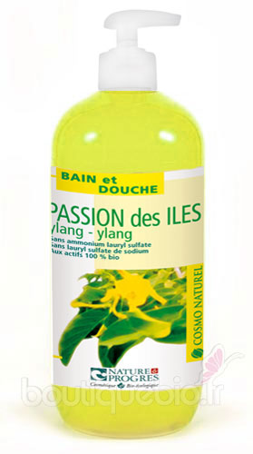 Gel Moussant Passion des Iles au Ylang Ylang Cosmo Naturel 500ml