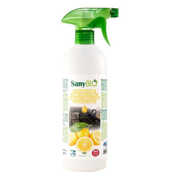sanybio spray d graissant cuisine au citron 750 ml boutique bio. Black Bedroom Furniture Sets. Home Design Ideas