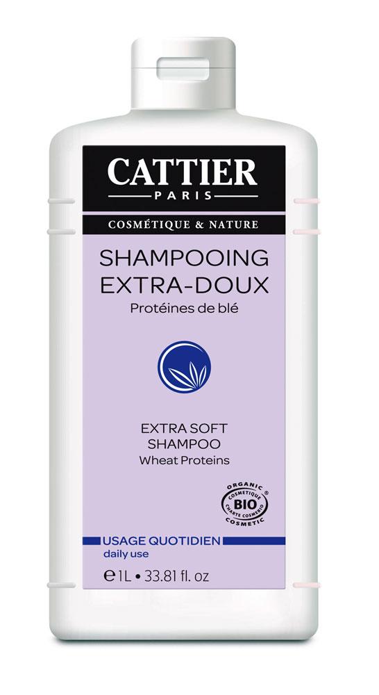 Cattier SHAMPOOING EXTRA DOUX 1L Usage Fréquent Boutique bio