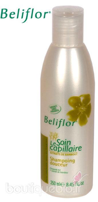beliflor shampooing soin douceur au bambou tous cheveux 250 ml boutique bio. Black Bedroom Furniture Sets. Home Design Ideas