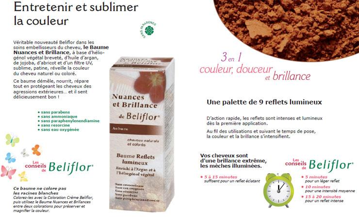 conseil baume beliflorjpg - Coloration Beliflor